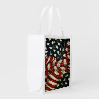 American Flag-Camouflage Grocery Bags