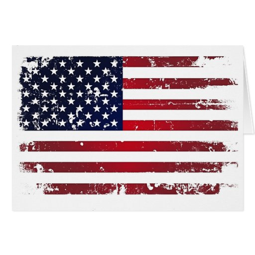 American Flag Greeting Cards