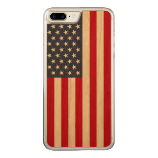 American Flag Carved® Cherry iPhone 7 Plus Bumper Carved iPhone 8 Plus/7 Plus Case