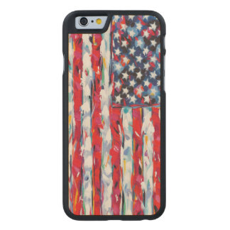 American Flag Carved Maple iPhone 6 Case
