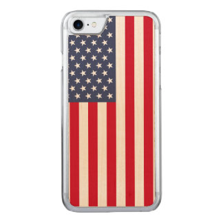 American Flag carved® maple iPhone 7 bumper case