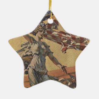 American Flag Ceramic Star Decoration