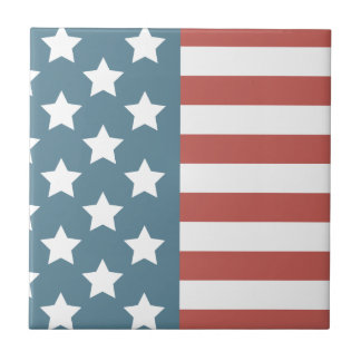 American Flag Ceramic Tile