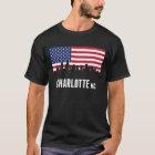 American Flag Charlotte Skyline T-Shirt