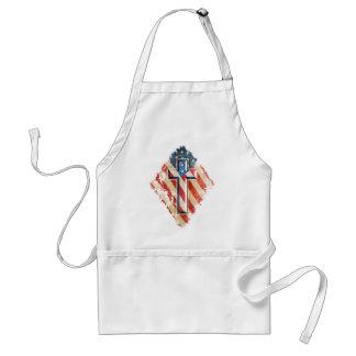 American Flag Christian Faith Cross Vintage Look Standard Apron