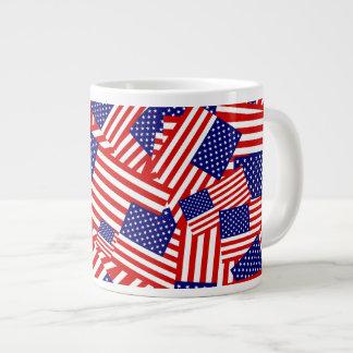American Flag Collage Jumbo Mugs