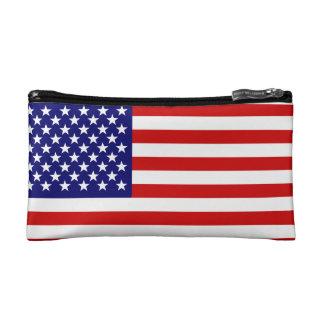 American flag cosmetics bags