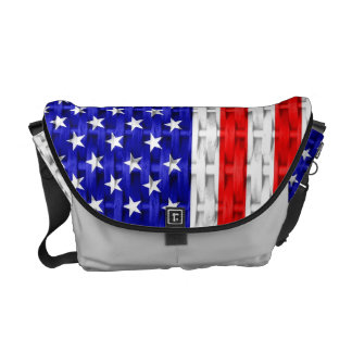 American Flag Courier Bags