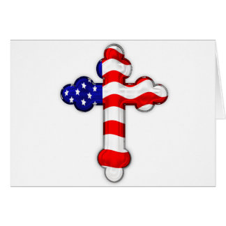 American Flag Cross Cards