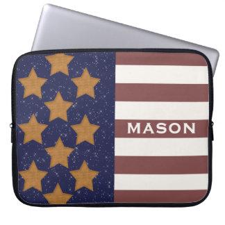 American Flag Custom Laptop Sleeve