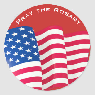 American Flag Customise Your Own Text Round Sticker