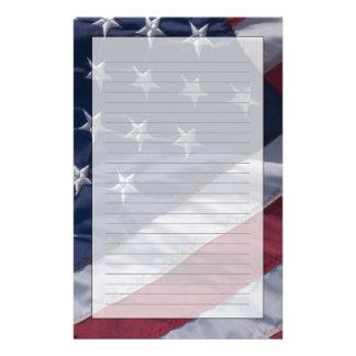 American flag. customised stationery