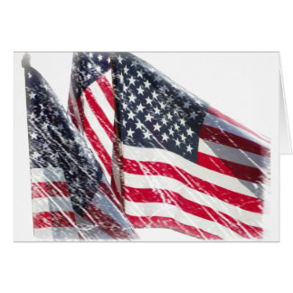 American Flag cutout Greeting Cards