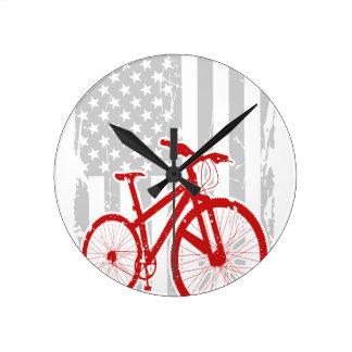 American Flag Cycling T-Shirt Wallclocks
