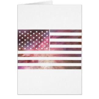 American Flag Design Card