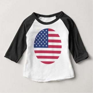 american-flag design circle design baby T-Shirt