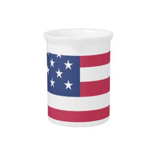 american-flag design circle design pitcher
