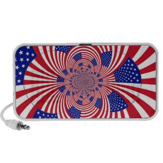 American Flag design doodle speaker