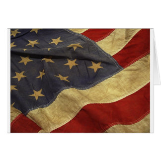 American flag design greeting card