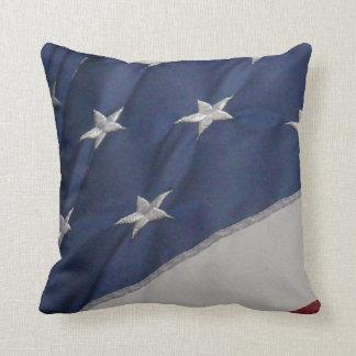 American flag design throw pillow