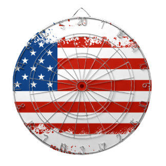 American Flag Distressed Dartboard