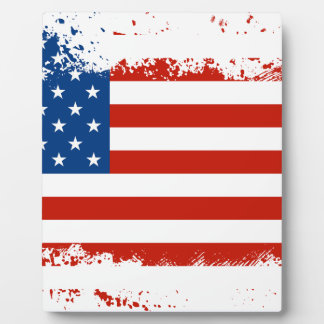 American Flag Distressed Display Plaque