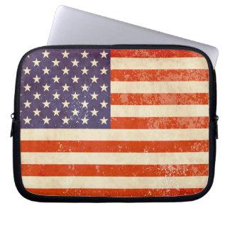 American Flag Distressed Laptop Sleeve