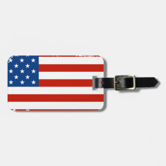 American Flag Distressed Luggage Tag