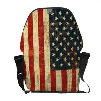 American Flag Distressed Commuter Bag