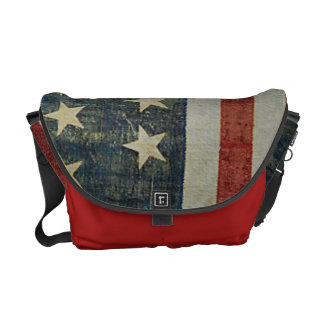 American Flag Distressed Patriotic Commuter Bag