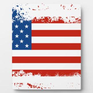 American Flag Distressed Plaque