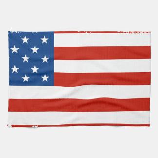 American Flag Distressed Tea Towel