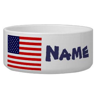 American Flag Dog Dish