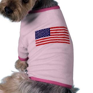 American Flag Ringer Dog Shirt