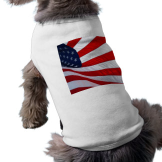 American Flag Dog Shirt