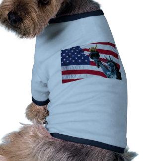 american flag dog tee