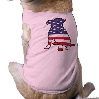 American Flag Dog Sleeveless Dog Shirt