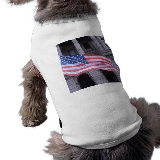 American Flag dog sweater Sleeveless Dog Shirt