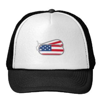 AMERICAN FLAG DOG TAGS TRUCKER HAT