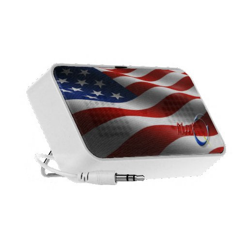 American Flag Doodle Cell Phone Speakers by MaxQ