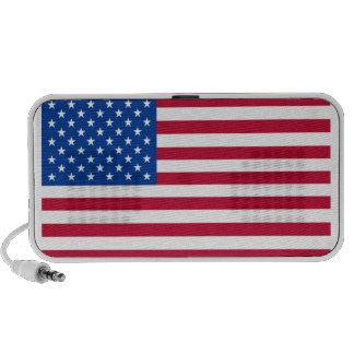 American Flag Doodle Portable Speaker