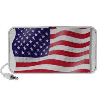 American Flag Doodle Travelling Speaker