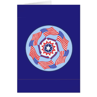 American Flag Dynamic Circle Greeting Cards