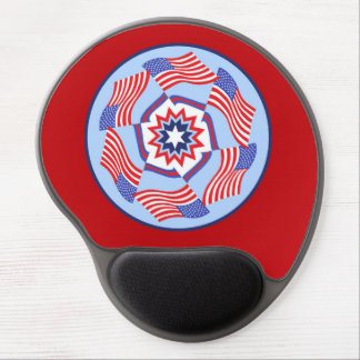 American Flag Dynamic Circle Gel Mouse Mat
