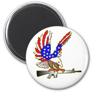 American Flag Eagle Ar-15 M16 Tattoo Magnet