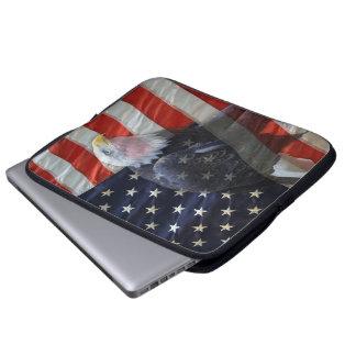 American Flag Eagle Laptop Computer Sleeve