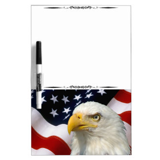 American Flag Eagle Magnetic Dry Erase Board 5