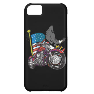 American Flag Eagle Motorcycle iPhone4 Case iPhone 5C Cases
