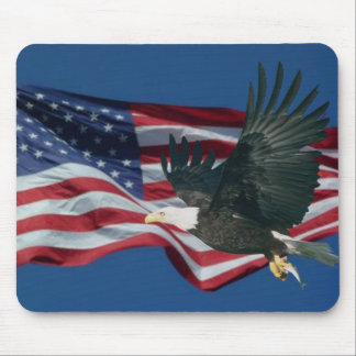 American Flag & Eagle Mouse Pad