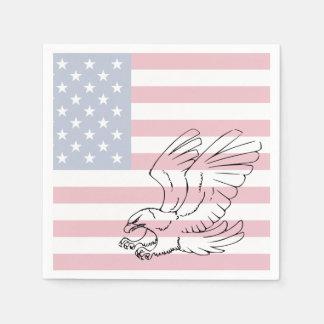 American Flag Eagle Patriotic Paper Napkins